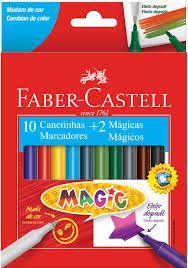 Canetinha Magic 10 Cores + 2 Mágicas - Faber-Castell