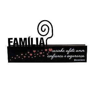 Plca Porta Retrato Mda Familia - Zona Criativa