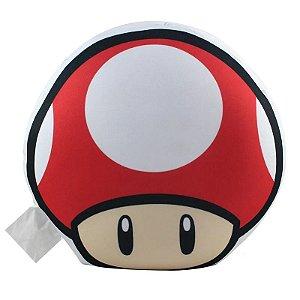 Almofada Formato Super Mario Cogumelo Vermelho - Zona Criativa