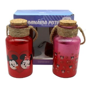 Kit C/2 Luminárias Mickey e Minnie Emoji
