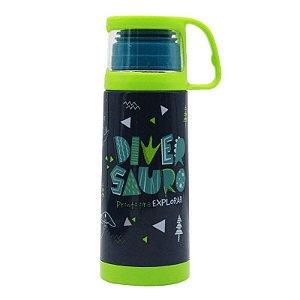 Squeeze Termica 350ml Com Caneca - Diversauro