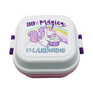 Mini Marmita Quadrada  Unicornio do dia -UATT
