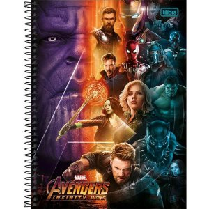 Caderno Universitario Avengers Infinity War 12M - Tilibra