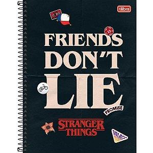 Caderno Universitário Stranger 1 Matéria - Tilibra