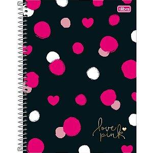 Caderno Universitário Love Pink 16M - Tilibra