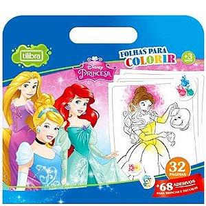 Folhas Colorir Maleta Princesa - Tilibra