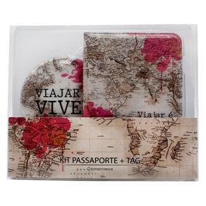 Kit Viagem Tag e Passaporte - Zona Criativa