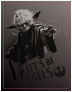 Quadro Metal Yoda Star Wars - Zona Criativa