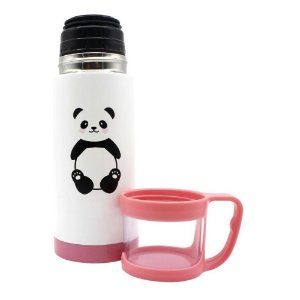 Garrafa Com Tampa 2 em 1 Panda - Zona Criativa