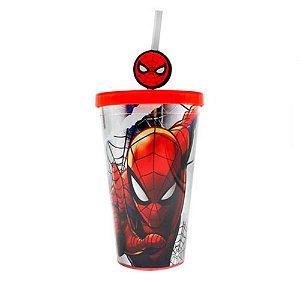 Copo Canudo C/ Pingente Spider Man - Zona Criativa