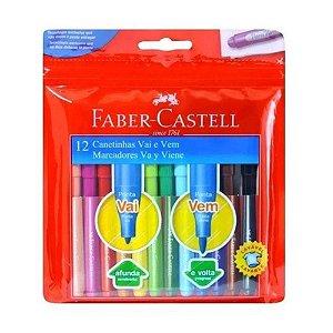 Canetinha Vai E Vem 12 Cores - Faber-Castell
