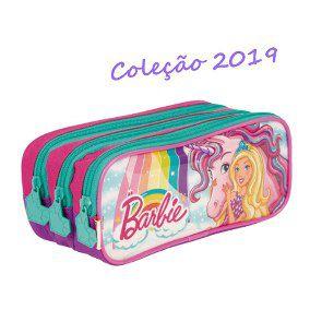 Estojo 03 Comp Barbie Dreamtopia Colorido