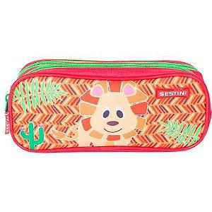 Estojo 02 Compartimentos Kids 19y Lion Colorido - Sestini