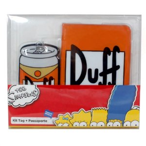Kit Viagem Tag e Passaporte Duff Beer - Zona Criativa