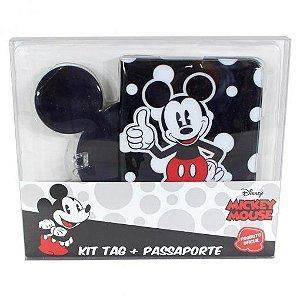 Kit Viagem Tag e Passaporte Mickey - Zona Criativa
