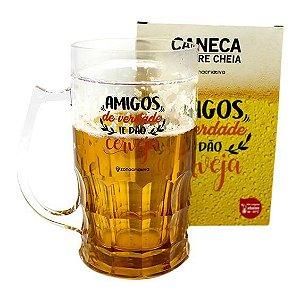Caneca De Chopp 500ml Amigos Dão Cerveja - Zona Criativa