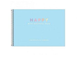 Caderno Espiral Cartografia Happy 80 Folhas - Tilibra