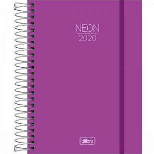 Agenda Espiral Neon Roxo 2020- Tilibra