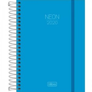 Agenda Espiral Neon Azul 2020- Tilibra