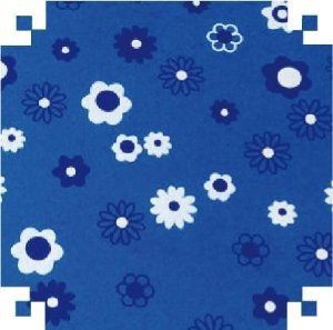 Eva Fantasia Diversos 2mm 40x60 Floral Azul
