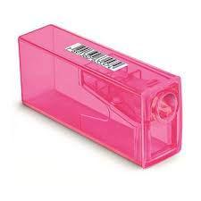 Apontador Rosa Com Depósito - Faber-Castell