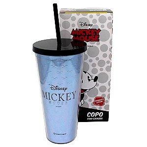 Copo Canudo Mickey Logo