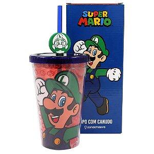 Copo Canudo C/ Pingente Luigi