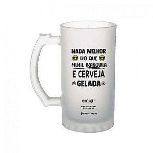 Caneca Chopp Emoji Cerveja Gelada - Zona Criativa