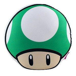Almofada Formato Super Mario Cogumelo Vida Verde -Zona Criativa