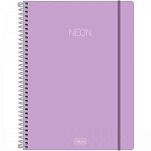 Caderno Universitário Neon Lilás 10 Matérias - Tilibra