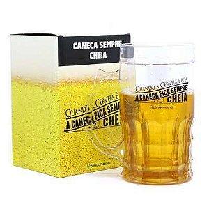 Caneca de chopp 500ml Cerveja boa - Zona Criativa