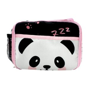 Lancheira Térmica 2 Bolsos Panda - Zona Criativa