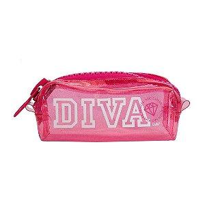 Necessaire College Mega Ziper Glitter Diva - UATT