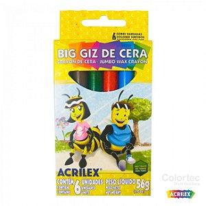 Big Giz De Cera 6 Cores - Acrilex