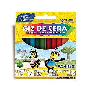 Giz De Cera 12 Cores - Acrilex