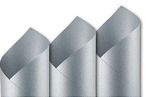 Papel Metalizado Prata A4 150g - Off Paper