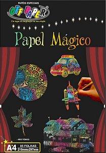 Papel Magico A4 5 Fls C/ Bastao
