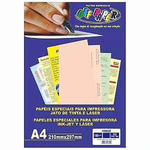 Papel Vergê Salmão A4 180g - Off Paper