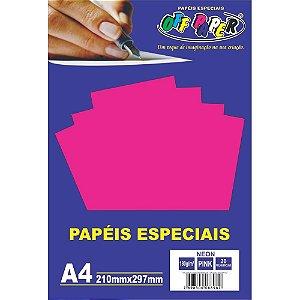 Papel Neon Pink A4 180g 20 FLS - Off Paper