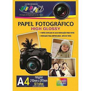 Papel Fotografico A4 180g 50 Fls - Off Paper