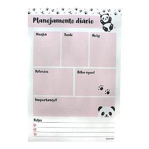 Quadro Metal com caneta planejamento panda -Zona Criativa