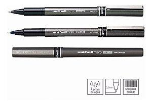 Caneta Ub-155 Deluxe Micro Preta - Uniball