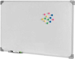 Quadro Branco Moldura Alumínio Magnético Office 120x090cm - Stalo