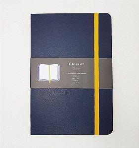 Caderneta Azul Marinho Sem Pauta - Cicero