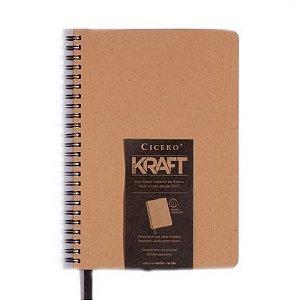 Caderneta Pontado Kraft - Cícero