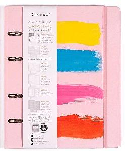 Caderno Argolado Verão Pautado Flamingo  - Cicero