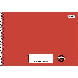 Caderno Espiral Cartografia e Desenho Vermelho 80 Folhas - Tilibra
