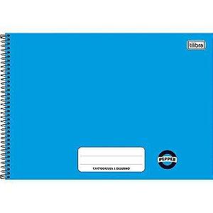 Caderno Espiral Cartografia e Desenho Peper Azul 80 Folhas - Tilibra