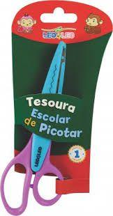 Tesoura De Picotar Colorida - LEO & LEO
