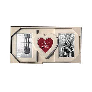 Mural 3 fotos Shape coração Amor infinito -UATT